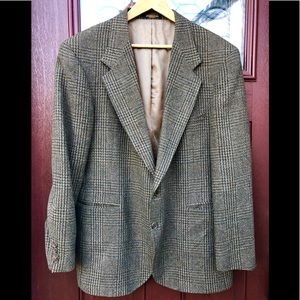 Evan Picone Vtg Mens Wool Blazer Glen Check Jacket